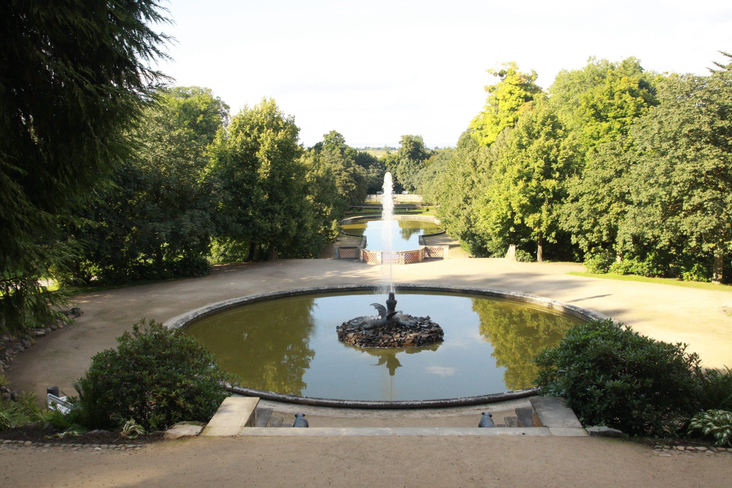 Schlosspark Ballenstedt, Wegebau, Wassergebundene Bauweise